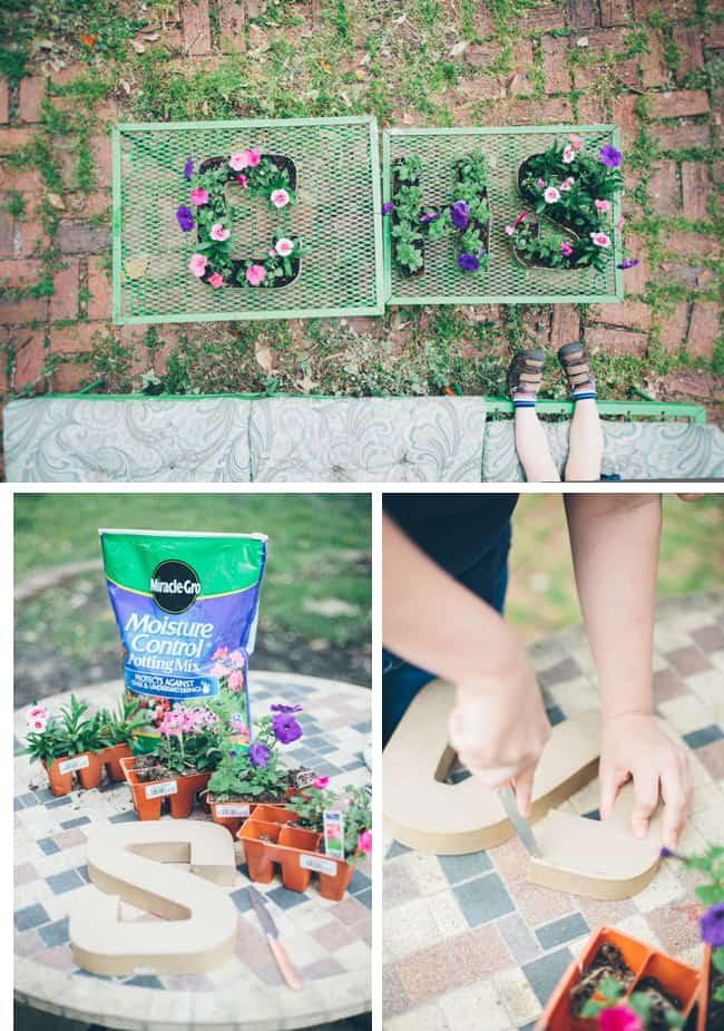 Letter planters