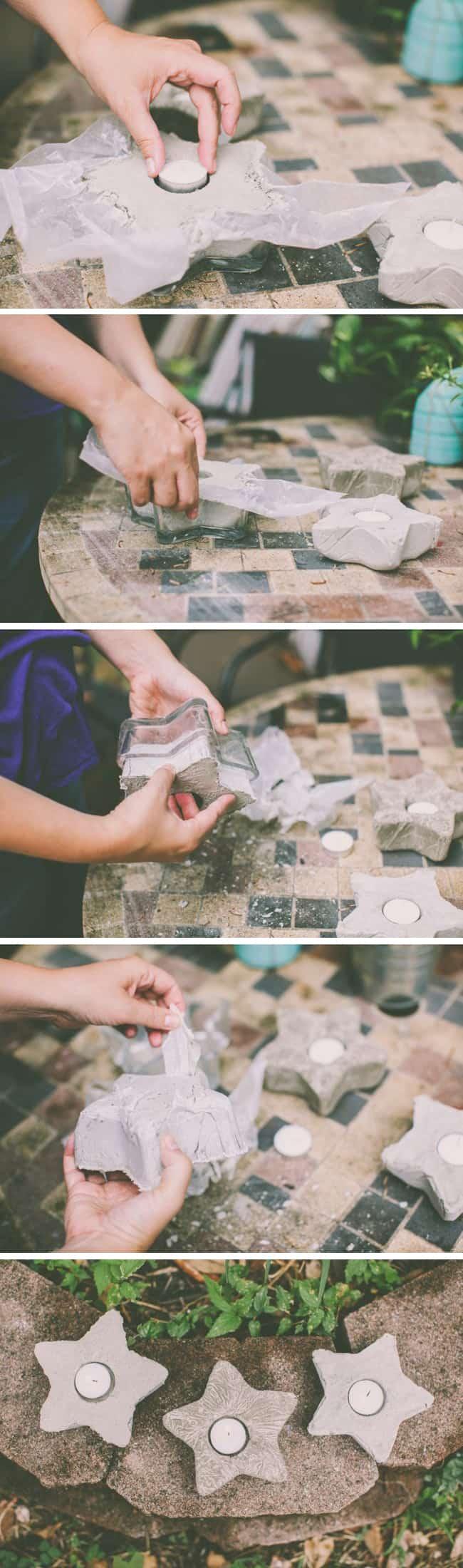 DIY Cement Votives | HelloNatural.co