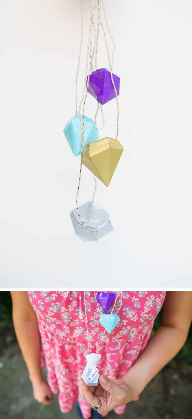 DIY Necklace with Diamond Pinatas | Henry Happened