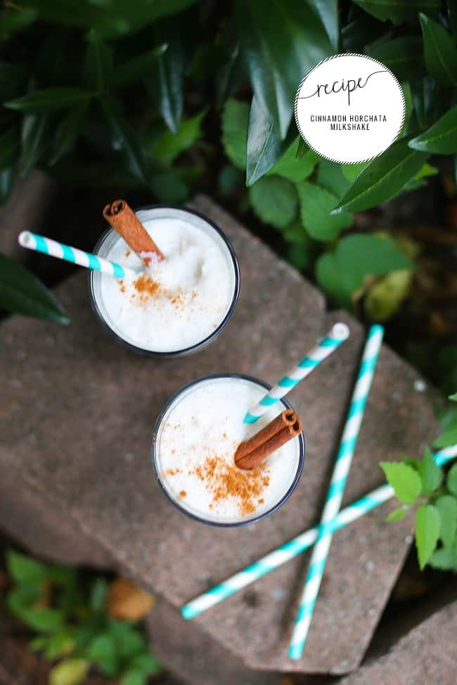 Cinnamon Horchata Milkshake