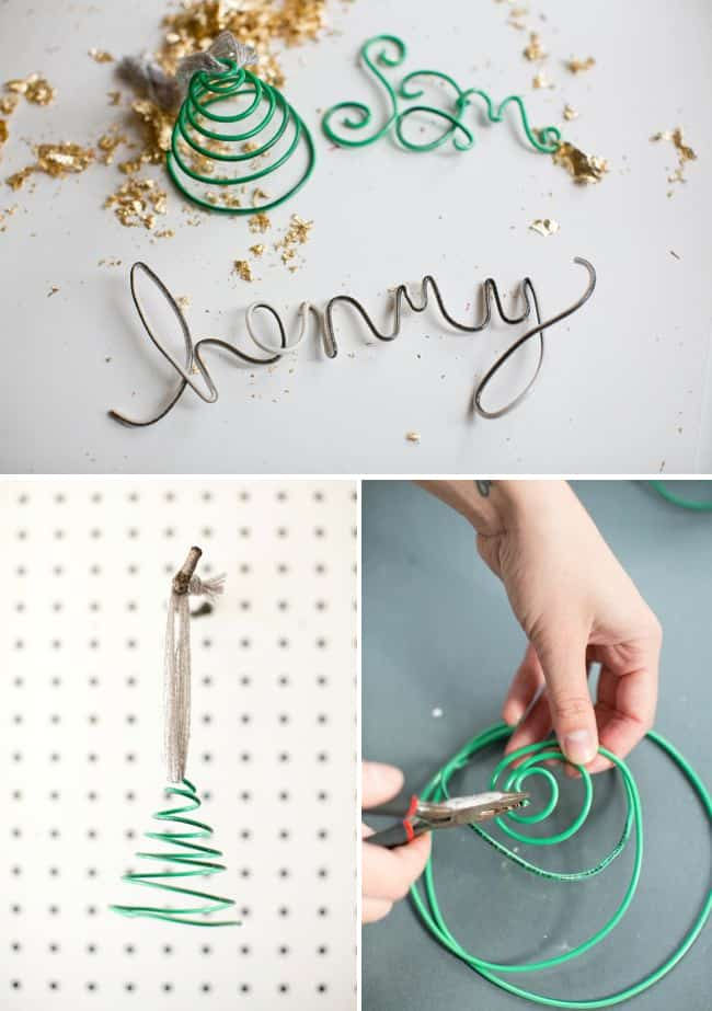 Wire Name DIY Ornaments | HelloNatural.co