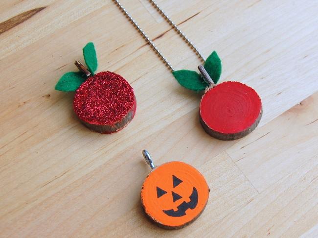 kids fall crafts pendants