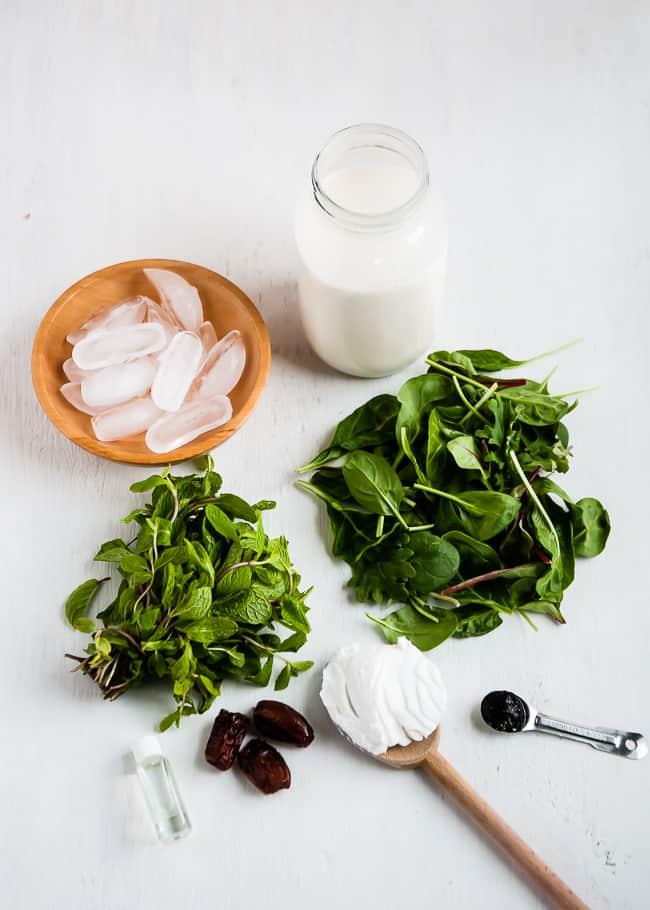 healthy shamrock shake ingredients