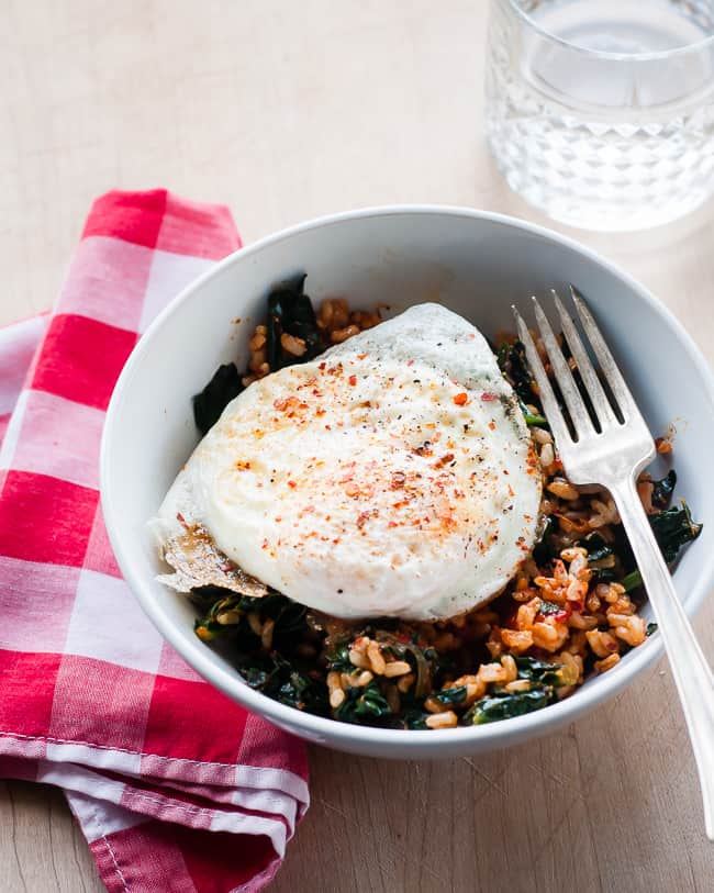 Sausage Paprikash with Fried Egg | HelloNatural.co