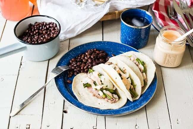 Pork Tenderloin Tacos with Chipotle Cream| HelloNatural.co