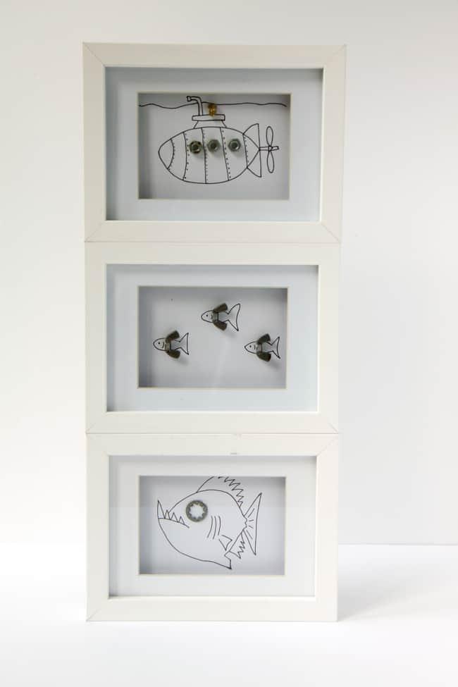 Framed kid artwork   hellonatural.co