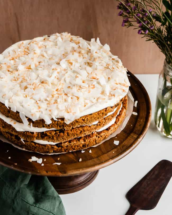 Light Carrot Cake Recipe | HelloNatural.co