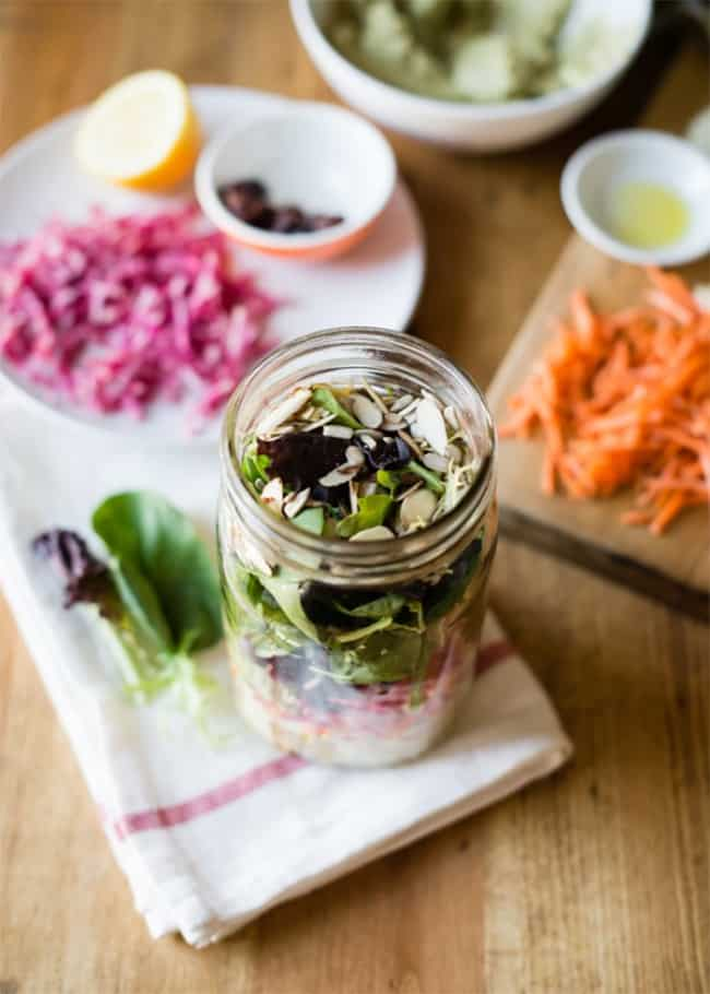 Rainbow salad in a jar | 25 Salads in a Jar