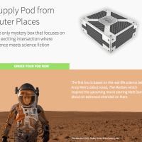 New Sci-Fi Subscription Box: Supply Pod + Limited Edition The Martian Box!