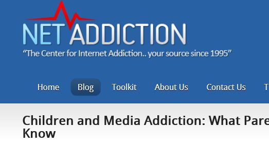 Net Addiction website link - Dr Kimberly Young