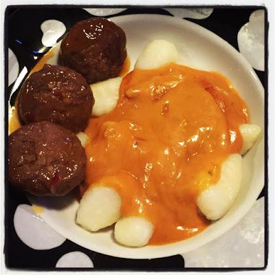 Sweet Chilli Meatballs, Gnocchi & Sauce