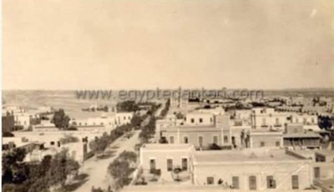 صورة من أعلي مدينة حلوان عام 1898