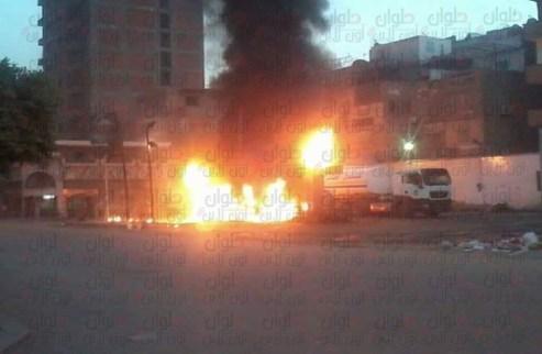 حريق بنزيمة شارع منصور