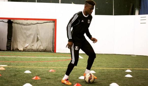 Soccer – MLS's Kharlton Belmar visits HRC's Bull Ring