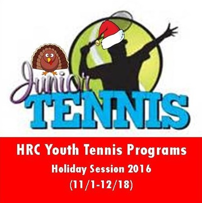 Youth Tennis Classes Start November 2nd for Ages 4-17