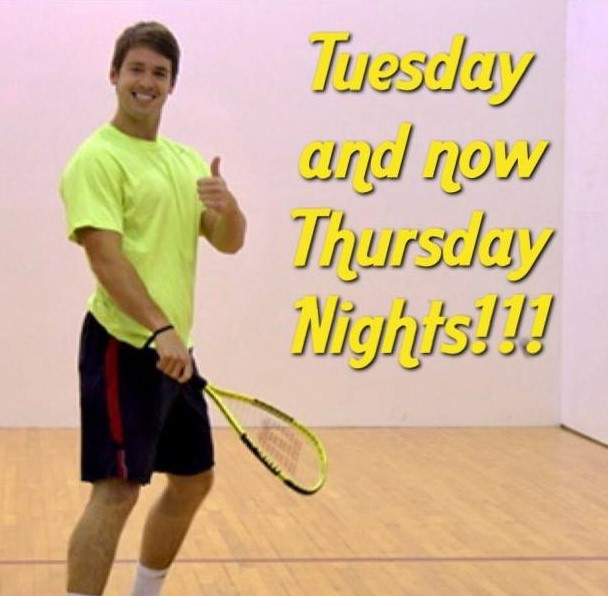 HRC Expands Racquetball at Night to Tuesdays and now Thursdays