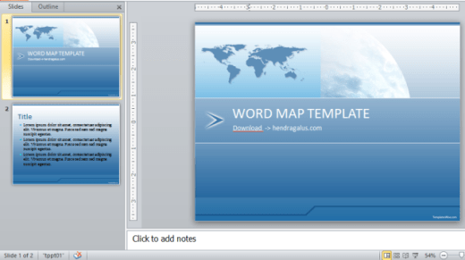 download template powerpoint, ppt, biru, peta dunia, map