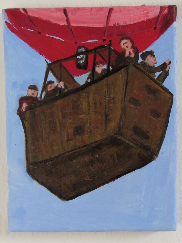 Ballon tourister, maleri af Henrik Bruun, 2012
