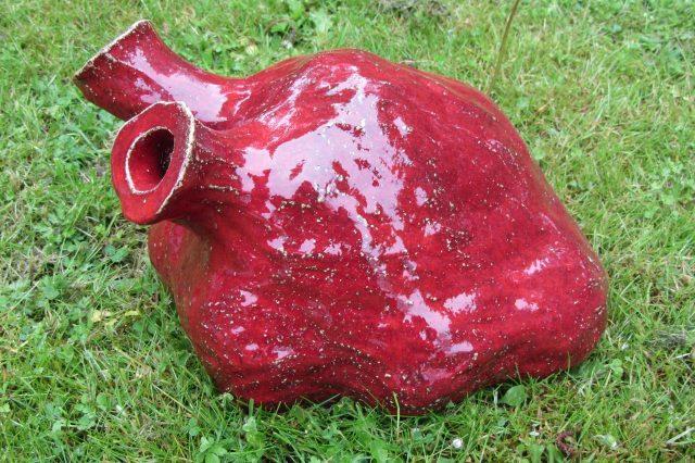 Hjerte af Henrik Bruun, glaseret lertøj, 2015