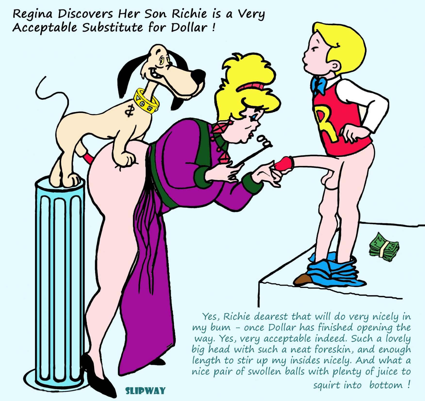 richie rich and naked family