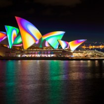 Sydney Opera House Sails. Image courtesy of Vivid Sydney.