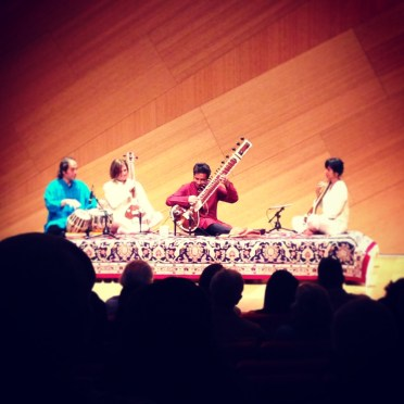 Kartik Seshradi performing at the Conrad Prebys Concert Hall