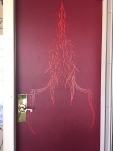 Front door striping