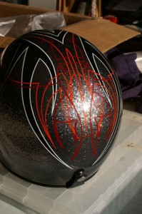 Helmet Pinstriping by Herb Martinez