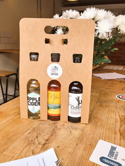 Customised cider gift pack