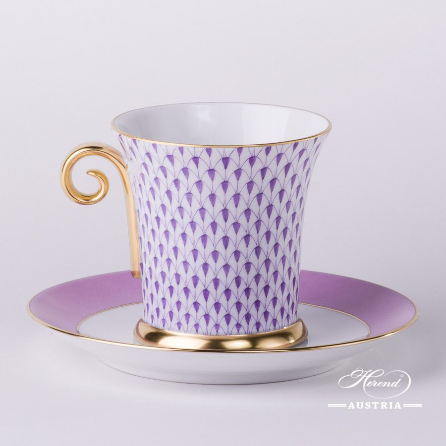 Staggering Lightbox Tea Cup Vh Lilac Herend Austriaherend Austria Tea Cup Tea Cup Set furniture Modern Tea Cup