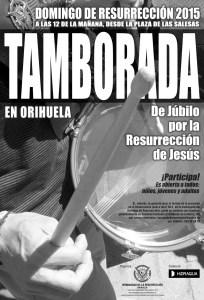 Cartel Tamborada Orihuela 2015