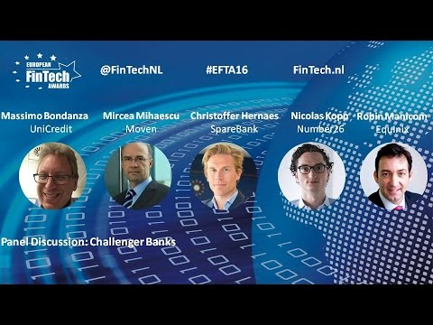 Challenger banks panel discussion at European fintech awards