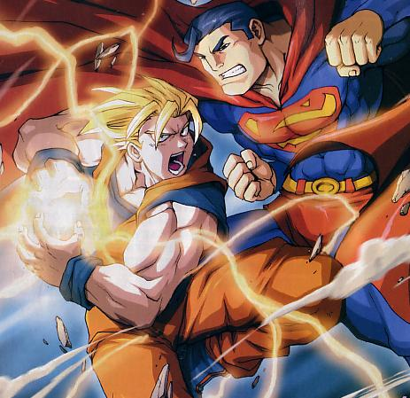 Crossover Goku de Dragonball vs Superman