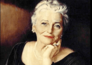 Pearl S. Buck painting