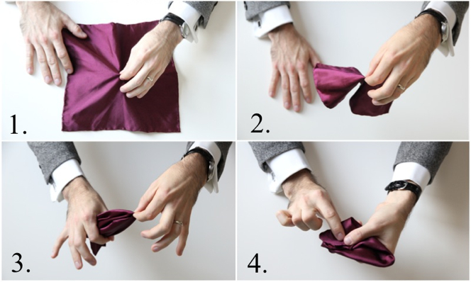 How To Fold a Pocket Square: Puff Fold - He Spoke Style