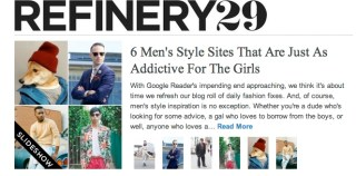 Best Men's Style Blogs 2013 by Refinery29 - He Spoke Style