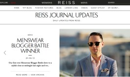 Reiss Menswear Blogger Battle Winner - He Spoke Style