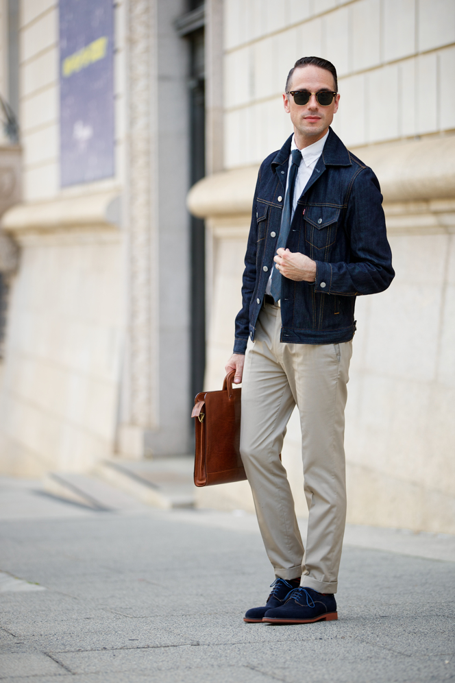 Brown Suede Shoes Navy Suit