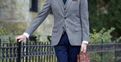 Tweed Blazer and Waistcoat - He Spoke Style