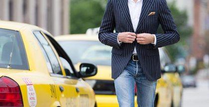 Pinstripe Blazer & Jeans - He Spoke Style