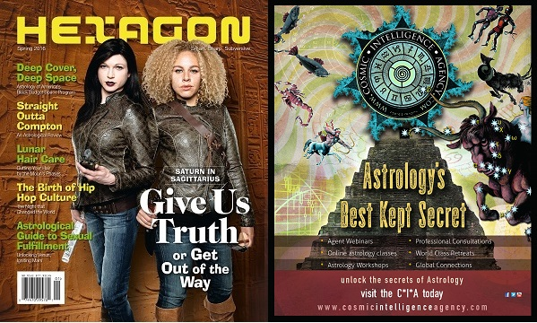 Front and back covers of Hexagon #2