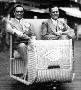 J. Edgar Hoover and Clyde Tolson enjoy a ride in Atlantic City, NJ.