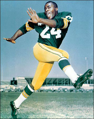 Willie Wood in the 1960s (Courtesy of Green Bay Packers)