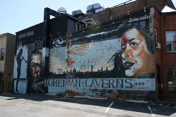Bohemian Caverns mural 2007