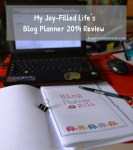 Organize Your Blog With My Joy-Filled Life's Blog Planner 2014