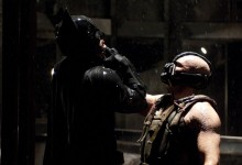 Christian Bale and Tom Hardy in The Dark Knight Rises 220x150 45 Behind the Scenes Photos from The Dark Knight Rises – Batman vs. Bane