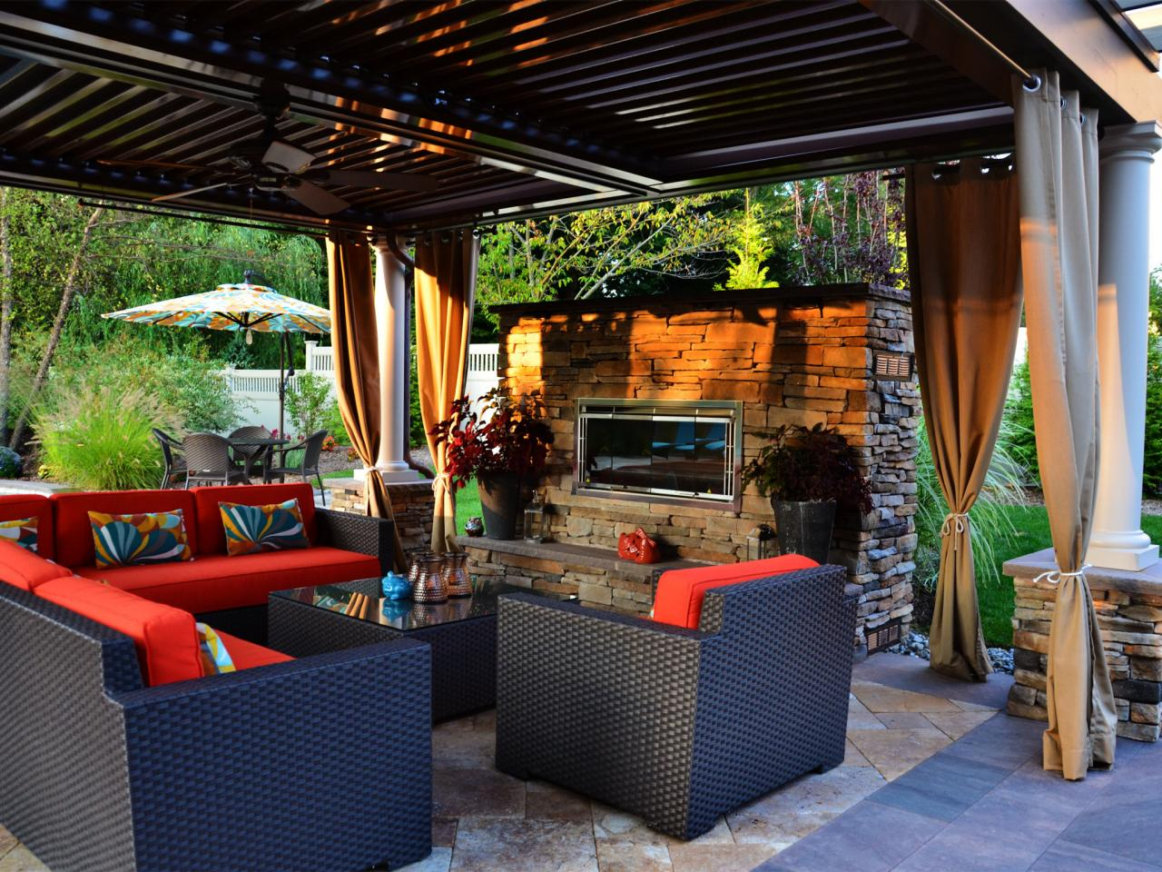Admirable Outdoor Fireplace Costs Budgeting An Outdoor Fireplace Hgtv Backyard Living Areas Backyard Living Area Designs outdoor Backyard Living Area