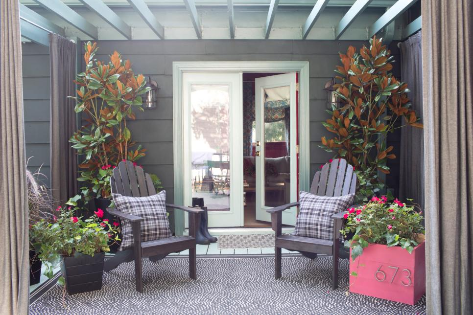 Fall Porch Decorating Ideas   HGTV Shop This Look