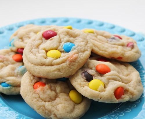 Jumbo soft m+m cookies