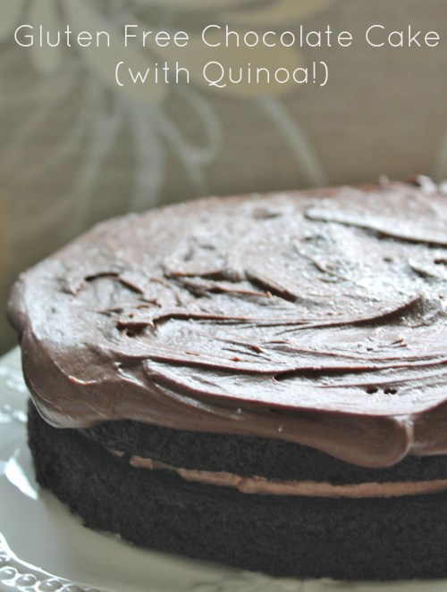 Gluten Free Chocolate Cake - no flour, just cooked quinoa, for a moist ...